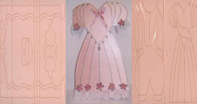 Plaque embossage robe pour carte 3D