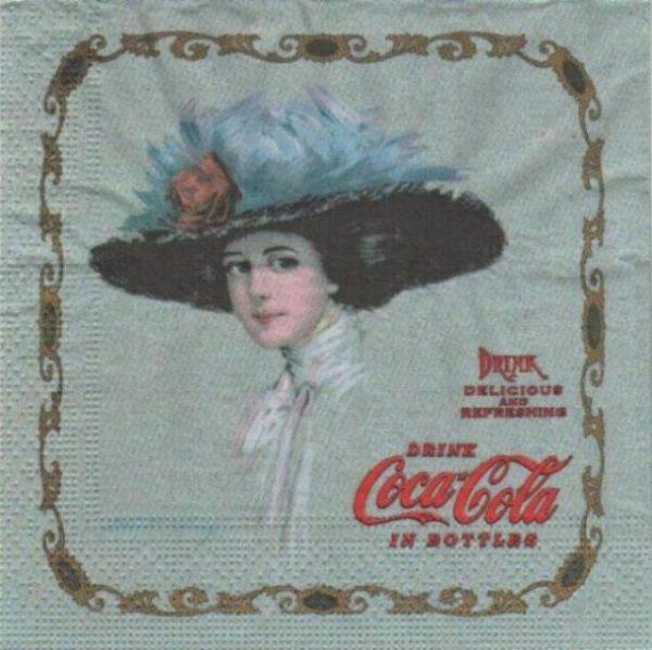 Serviette papier Dame Coca Cola 33 cm x 33 cm 3 plis