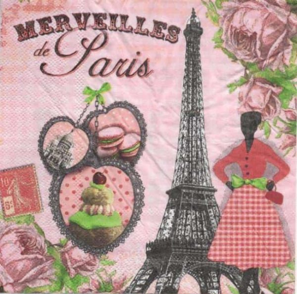 Serviette papier Merveille de Paris