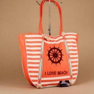 Grand sac de plage orange 54 cm