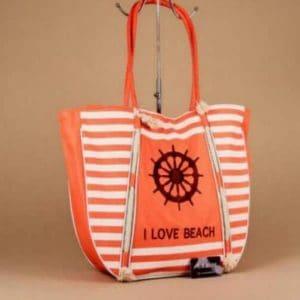 Grand sac de plage orange 54 cm