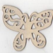 Papillon bois 65 mm découpe laser