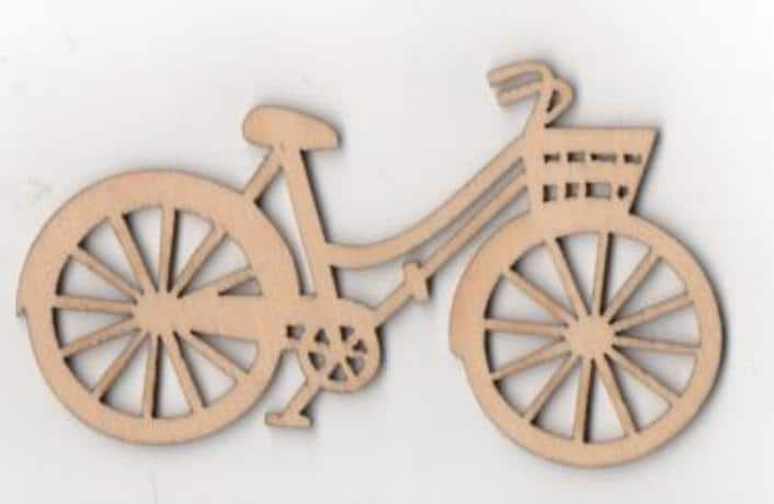 Vélo Bois 90 Mm X 40 Mm à Décorer Ou à Peindre Loisirsetscrap