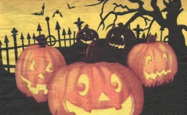 Serviette papier Halloween citrouille