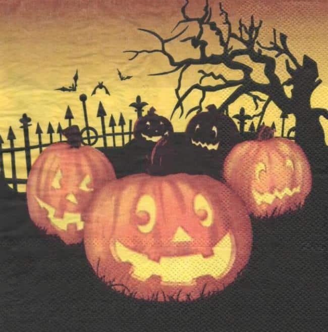 Serviette papier halloween citrouille loisirsetscrap - Citrouille halloween en papier ...