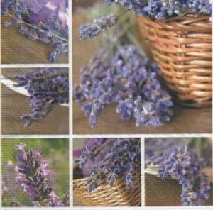 Serviette papier Lavendin et Provence