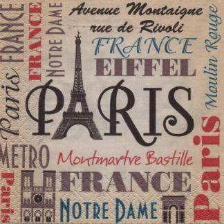 Serviette papier Paris Bastille