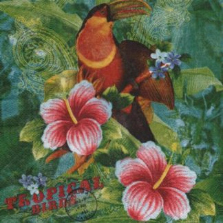 Serviette papier oiseau tropical