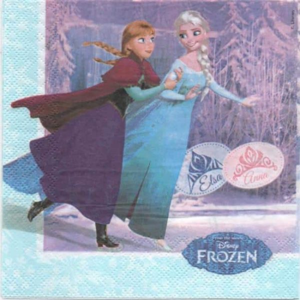 Serviette papier reine des neiges