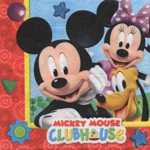 Serviette papier Mickey Club-House