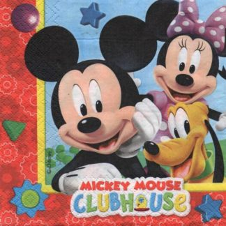 Serviette papier Mickey Club-House
