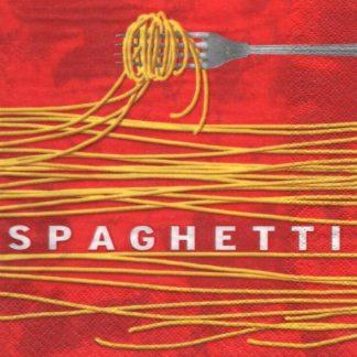 Serviette papier Spaghetti et Italie