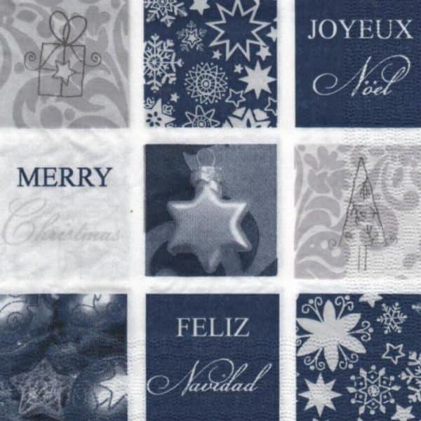 Serviette papier Joyeux Noël 33 cm x 33 cm
