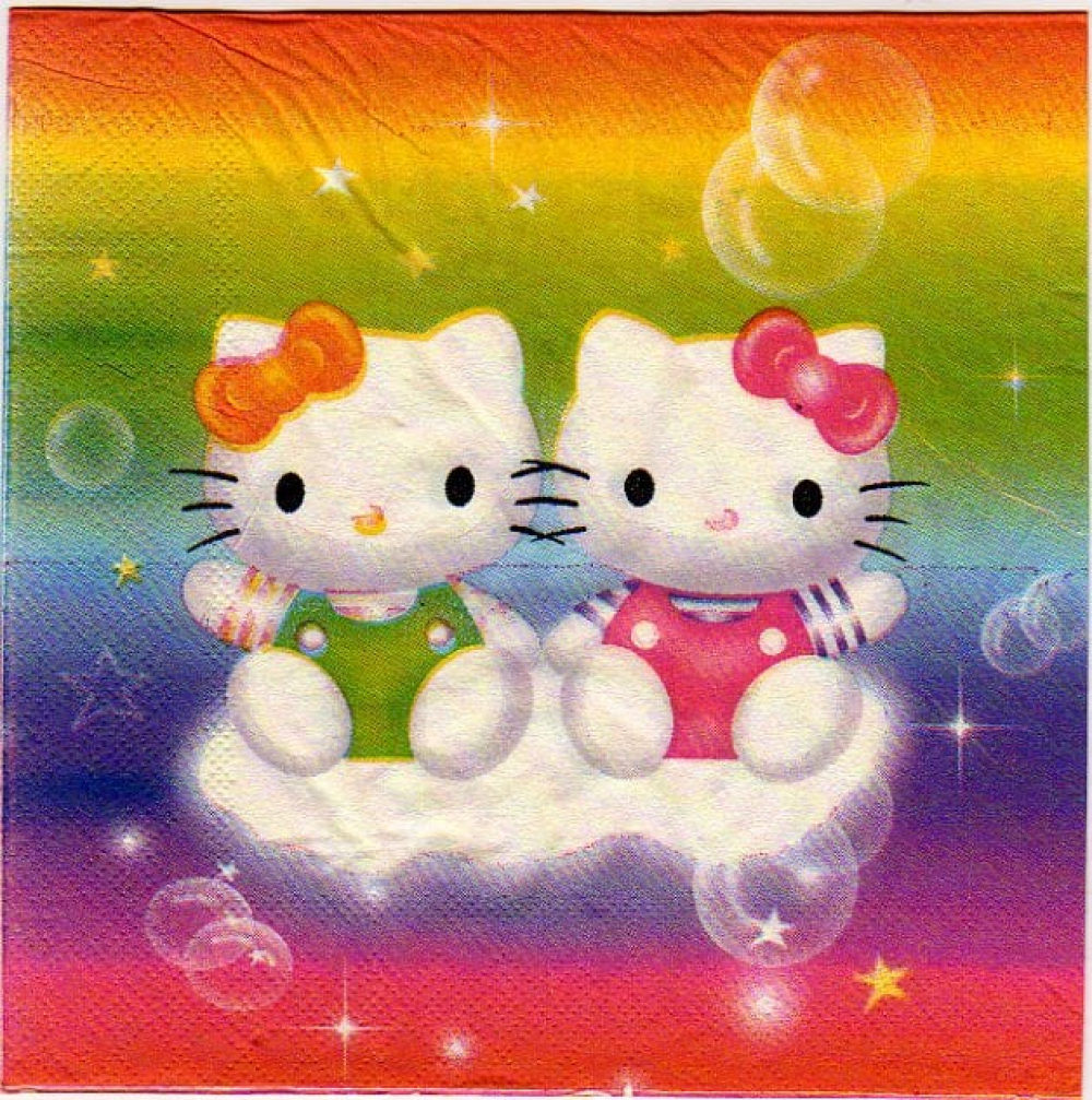 Serviette papier Hello Kitty 33 cm x 33 cm 3 plis