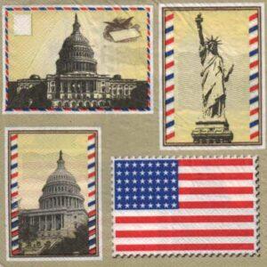 Serviette papier Le Capitole Etats Unis 33 cm x 33 cm 2 plis