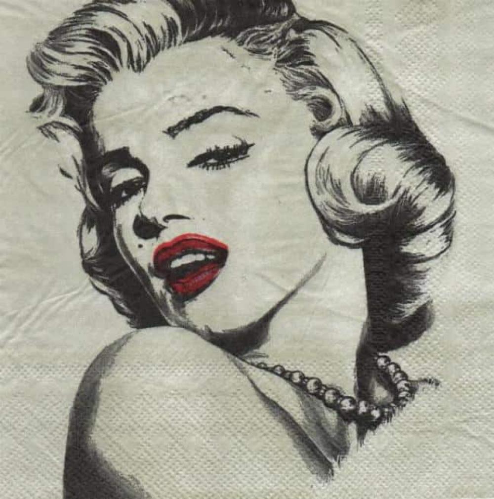 Serviette papier Marilyn Monroe 33 cm x 33 cm 2 plis