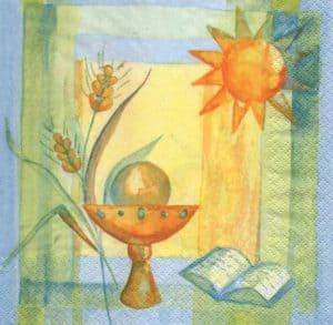 Serviette papier calice et soleil 33 cm x 33 cm