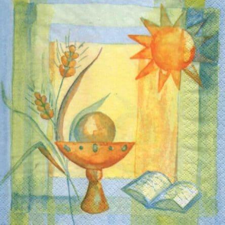 Serviette papier calice et soleil