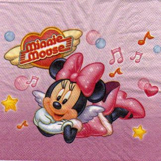 Serviette papier Minnie et music