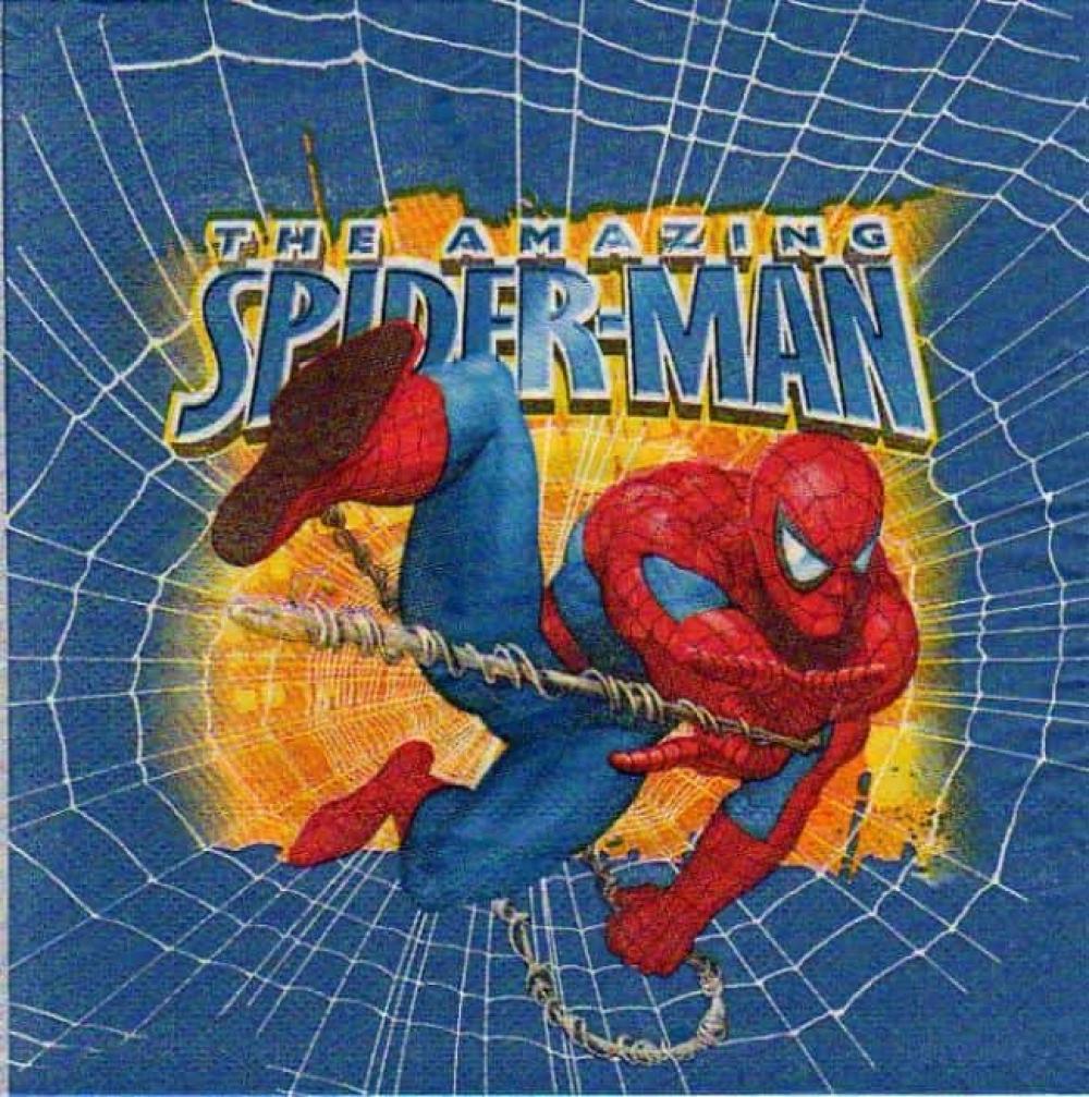 Serviette papier Spiderman homme araignée 33 cm x 33 cm