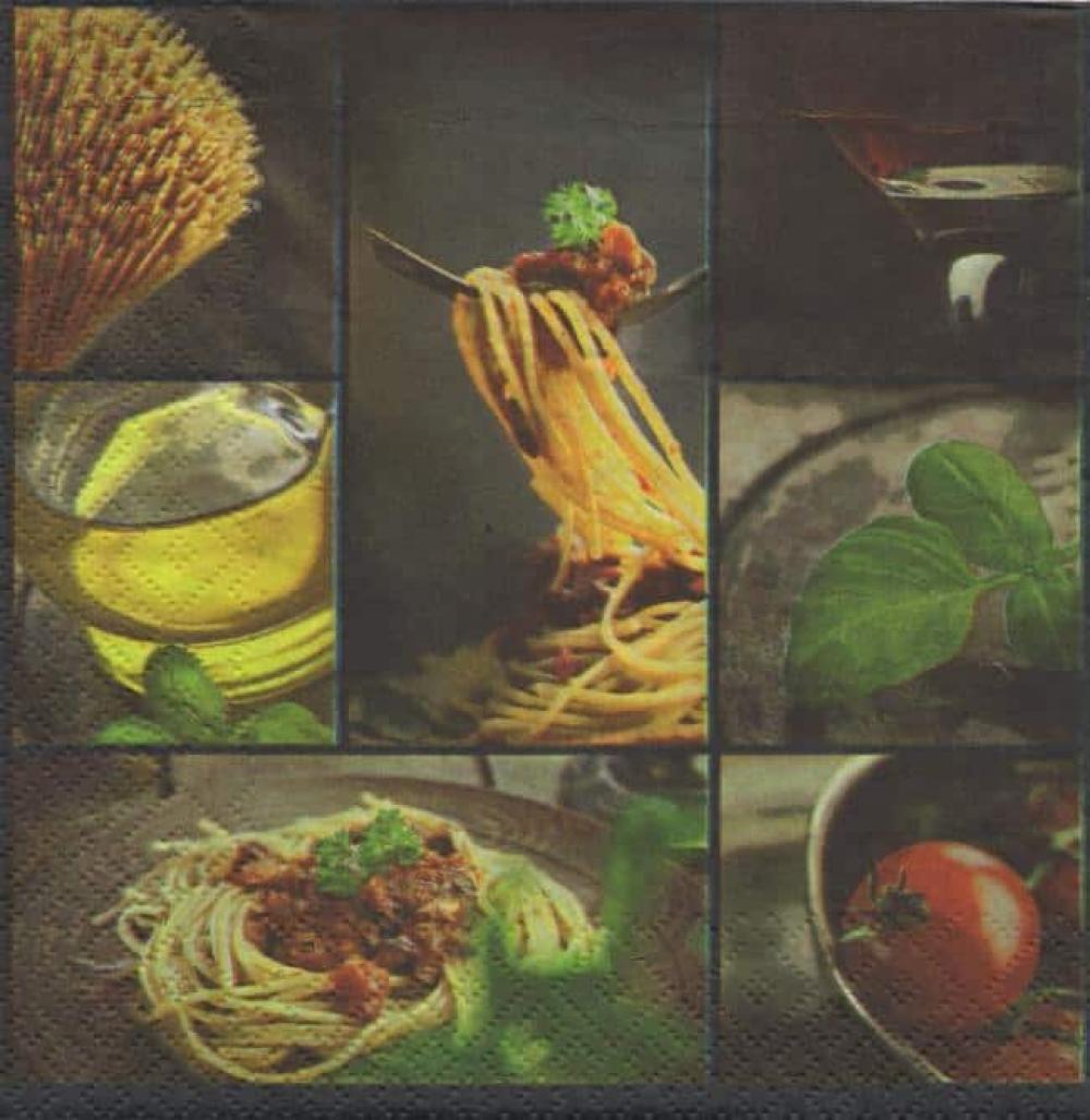 Serviette papier Italie et pâtes
