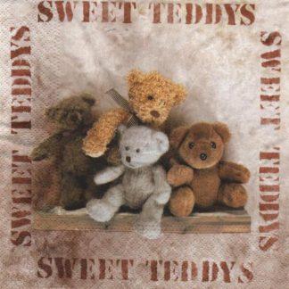 Serviette papier Oursons Teddys 33 cm x 33 cm 3 plis