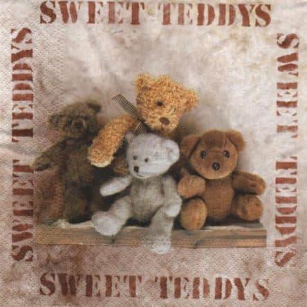 Serviette papier Teddys oursons