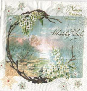 Fleurs blanche et hiver