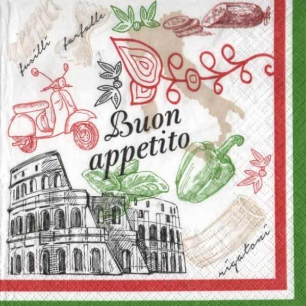 Serviette papier Italie et Roma