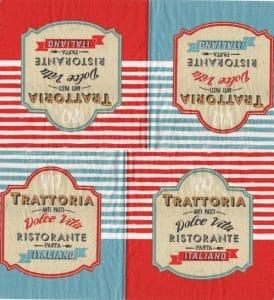 Serviette papier Tratoria Italia