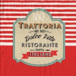 Serviette papier Trattoria Italia
