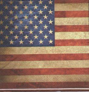 Serviette papier drapeau des États-Unis 33 cm x 33
