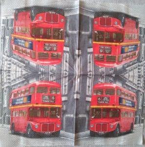 Serviette papier Bus Londonien