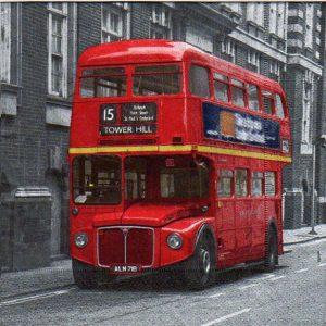 Serviette papier Bus Londonien 33 cm 3 plis