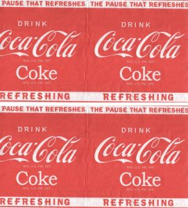Serviette papier Coca Cola Refreshing