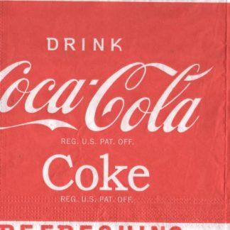 Serviette papier Coca Cola pub