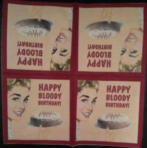 Serviette papier Happy Bloody Birthday