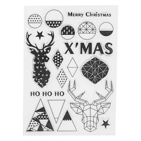 Tampon transparent Joyeux Noël