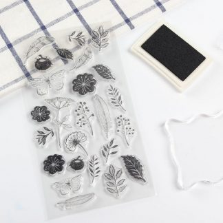Tampon transparent fleurs