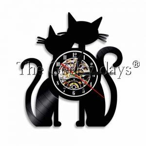 Horloge 2 chats en couple