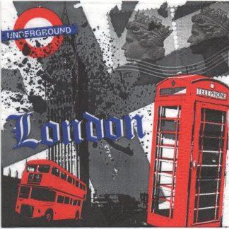 Serviette papier Londres et bus pour décoration