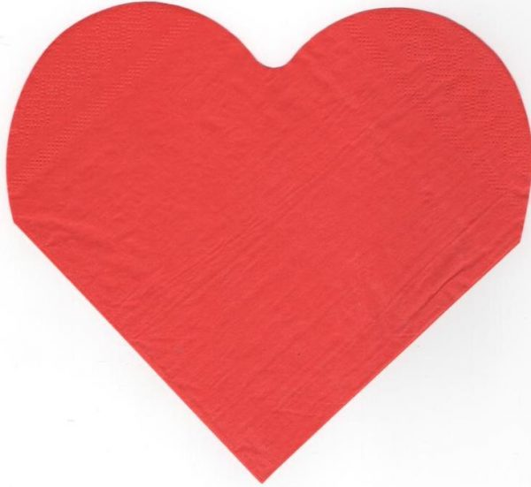 Serviette papier rouge