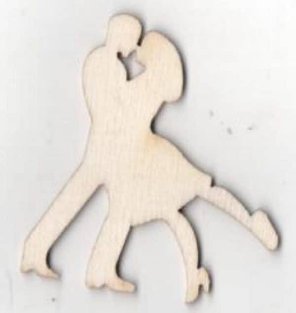 Couple danseurs bois