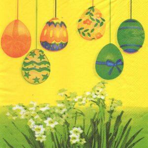 Serviette papier Pâques et œufs 33 cm x 33 cm