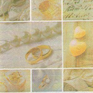 serviette papier alliance et coeur