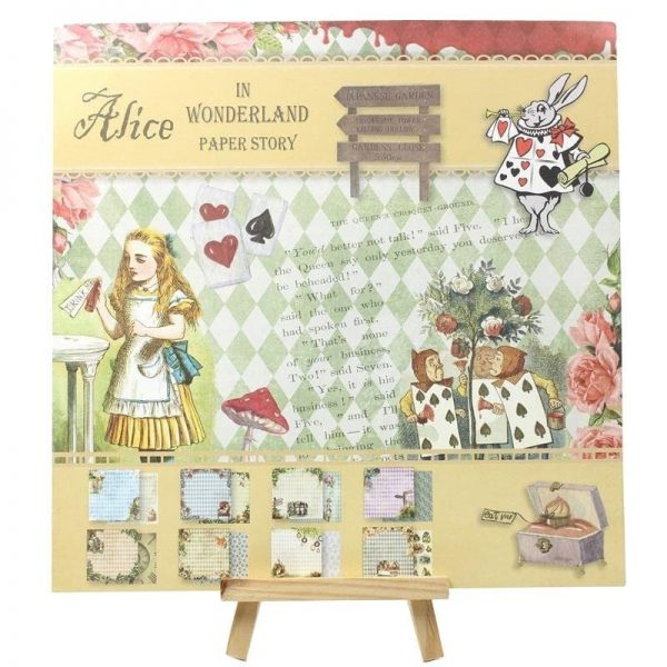 Lot de 24 feuilles scrapbooking Alice