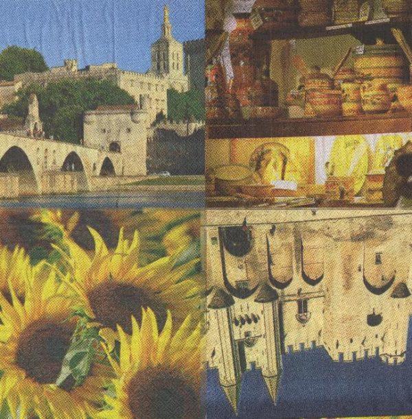Serviette papaier Avignon 4 motifs