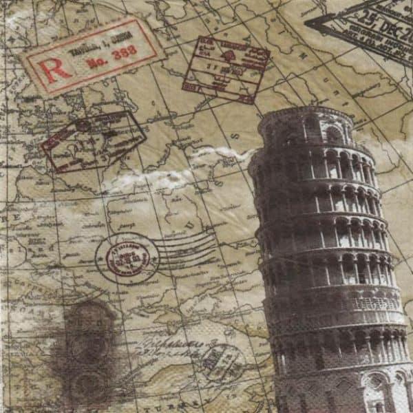 Serviette Italie et Pise