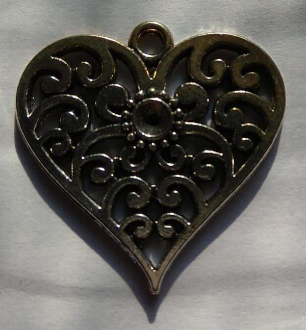 Pendentif coeur et argent