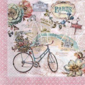 Serviette Paris et vélos